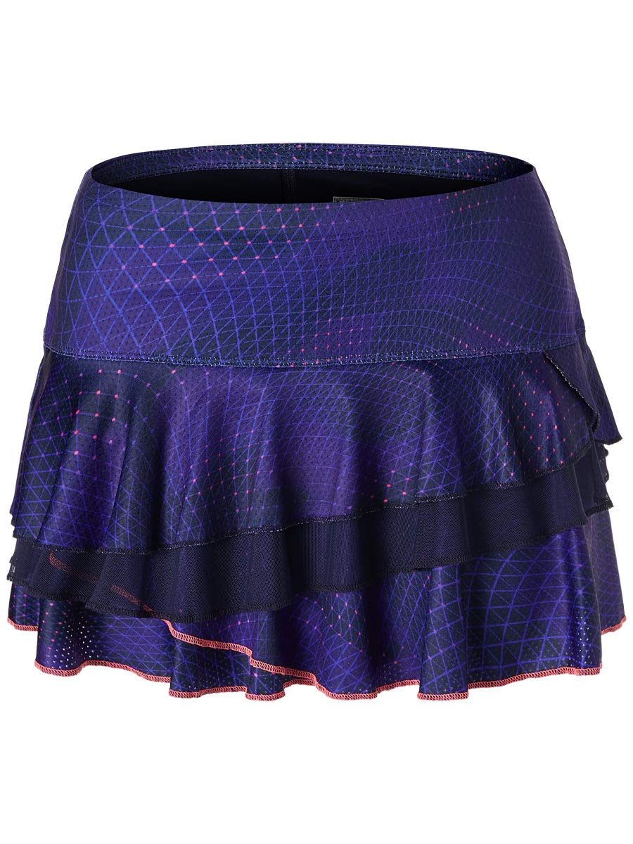 Lucky In Love Ultraviolet Prism Rally Tier Skirt (Large)