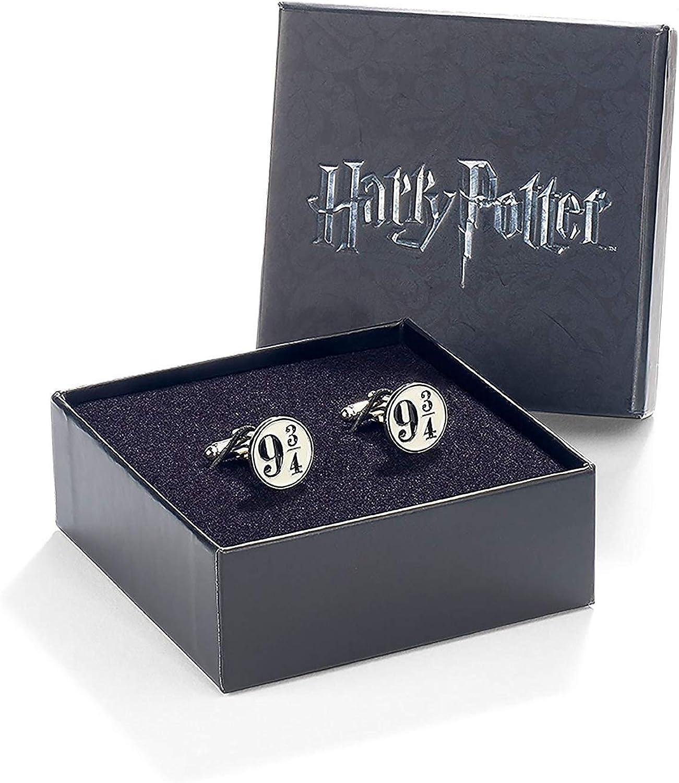 Oficial Warner Bros Harry Potter plataforma 9 3/4 plateado gemelos