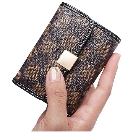 Amazon.com: Sueway - Monedero de piel para mujer con cierre ...