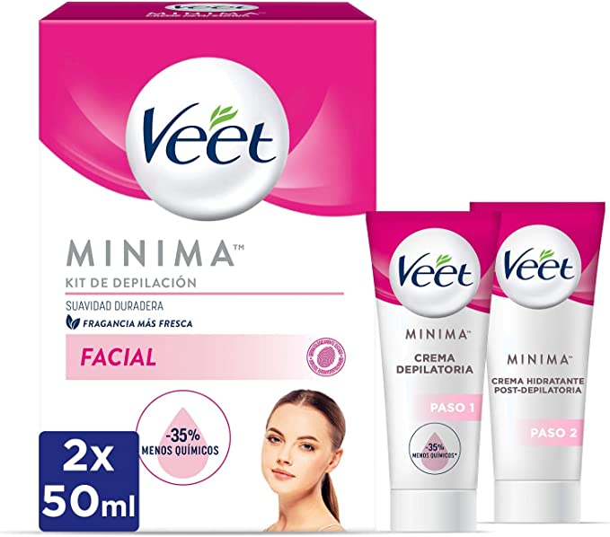 Veet Kit Crema Depilatoria Facial + Crema hidratante post ...