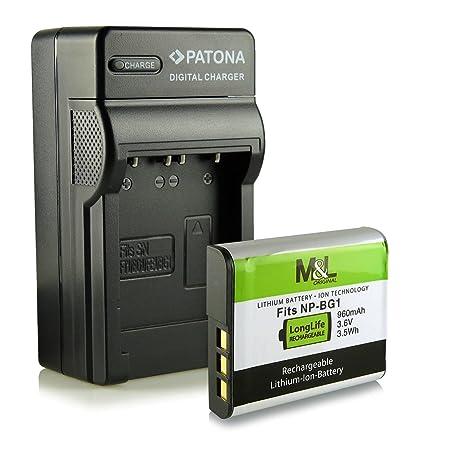Cargador + Batería NP-BG1 para Sony CyberShot DSC-H3 DSC-H7 DSC-H9 ...