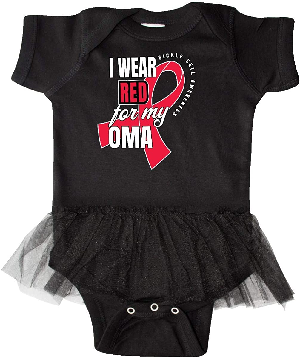 inktastic Sickle Cell Awareness I Wear Red for My Oma Infant Tutu Bodysuit