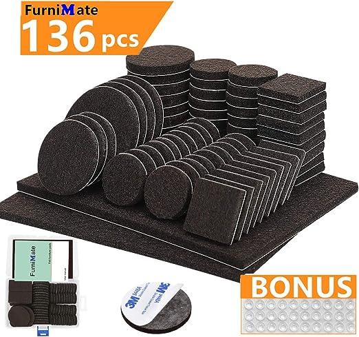 Amazon.com: Juego de 136 almohadillas de fieltro ...