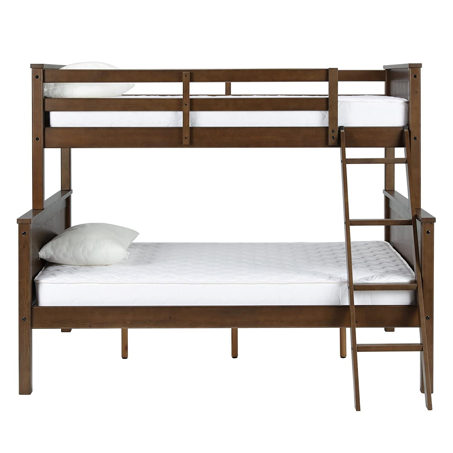 amazoncom dorel living dl1008tfbb maxton twin over full bunk bed mocha kitchen u0026 dining