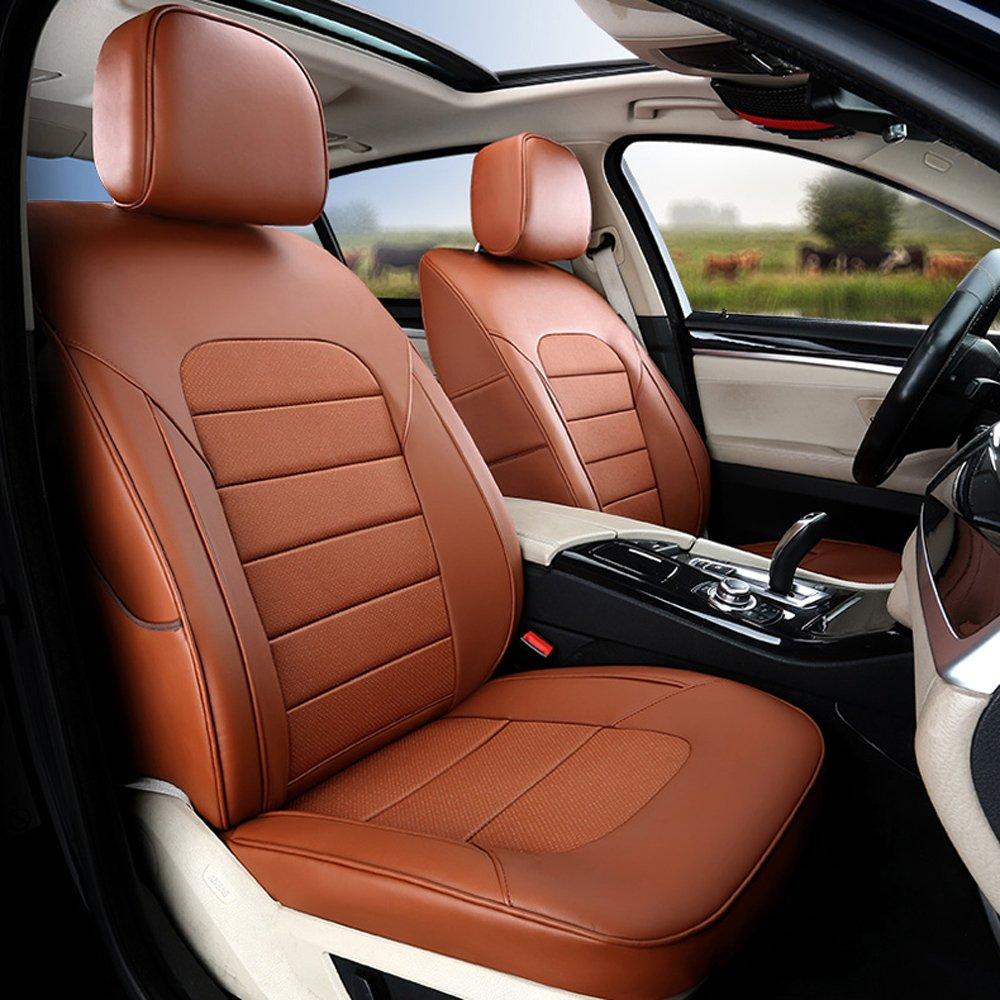 Subaru Forester Seat Covers >> Amazon Com Autodecorun Cowhide Leatherette Automotive Custom Fit