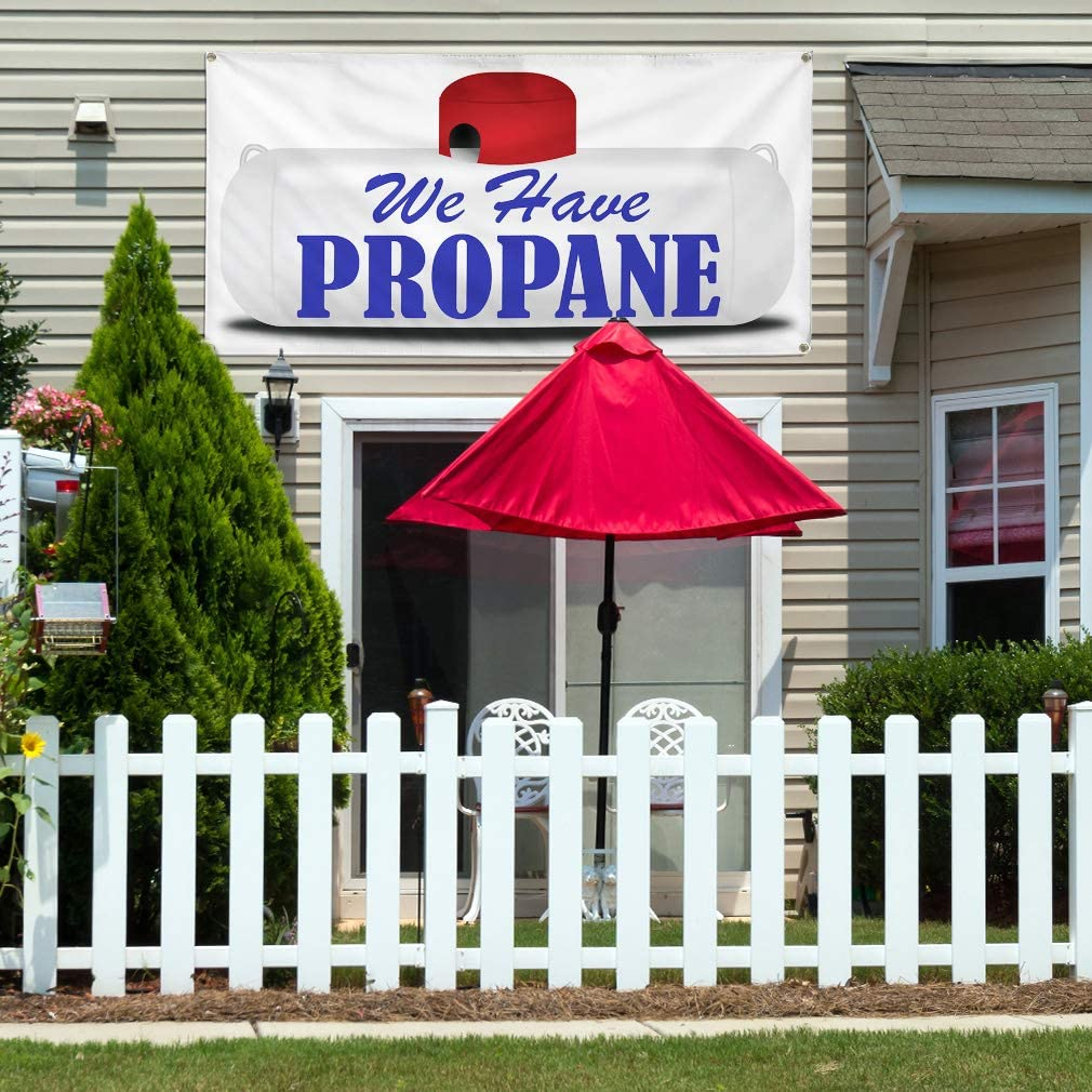 Vinyl Banner Multiple Sizes We Have Propane Business Business Outdoor Weatherproof Industrial Yard Signs White 8 Grommets 48x96Inches