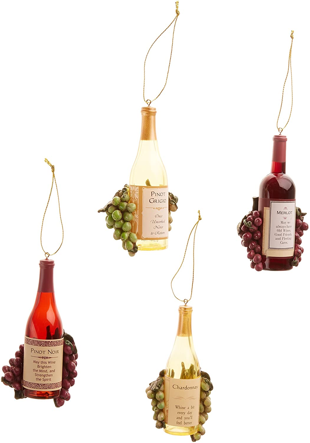 Grape Cluster Ornament Recycle Wine Cork Burgundy Merlot  Or Bottle Necklace Christmas
