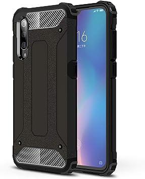 XIFAN Funda Estuche para teléfono Compatible con Xiaomi Mi 9, Armadura Robusta de Silicona a Prueba de Golpes TPU y Cubierta Dura para PC Funda (Negro): Amazon.es: Electrónica