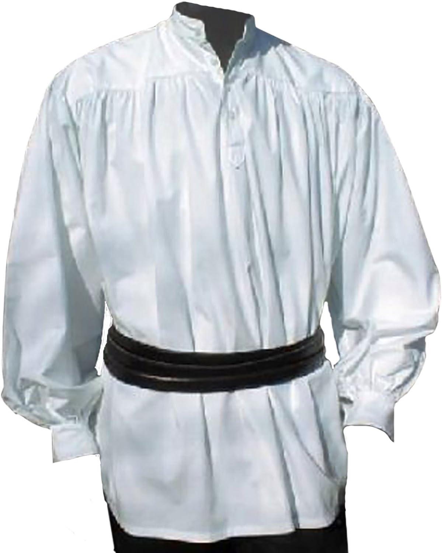Camisa pirata - con cuello alto - color blanco - Disfraz hombres - XXL: Amazon.es: Ropa y accesorios