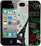 Heartly Flag Printed Design High Quality Hybrid Tough Armor Hard Bumper Back Case Cover For Apple iPhone 4 4S 4G - France