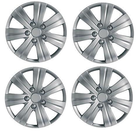UKB4C 4x Silver 16 Inch Deep Dish Van Wheel Trims Hub Caps For Vauxhall Combo