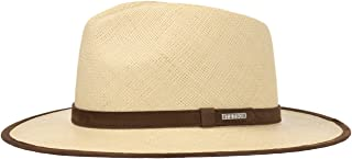 Stetson Panama Braid 1 Traveller Hat Men | Made in Ecuador Men´s Beach with Leather Trim, Piping Spring-Summer