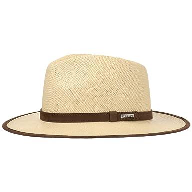 Stetson Sombrero Panama Braid Hombre - Made in Ecuador de Panamá Playa con Banda Piel, Ribete Primavera/Verano