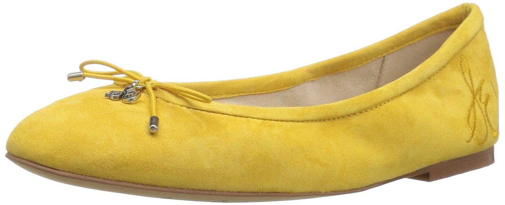 Sam Edelman Women's Felicia Ballet Flat, Sunset Yellow Suede, 5.5 M US