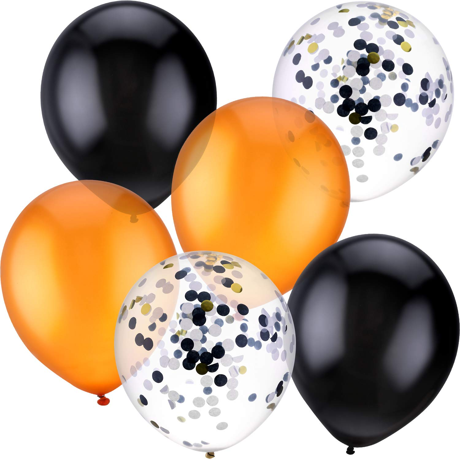 45 Pieces Orange Black Confetti Balloon Halloween Balloon Party Decoration Boao