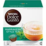 Nescafé Dolce Gusto Marrakesh Style Tea, Greentea with Peppermint 16 Capsules