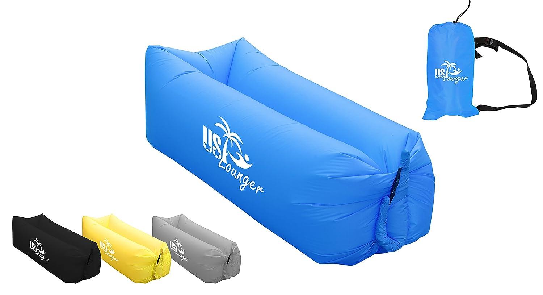 US Lounger Tumbona hinchable, portátil, se infla rápidamente con ...
