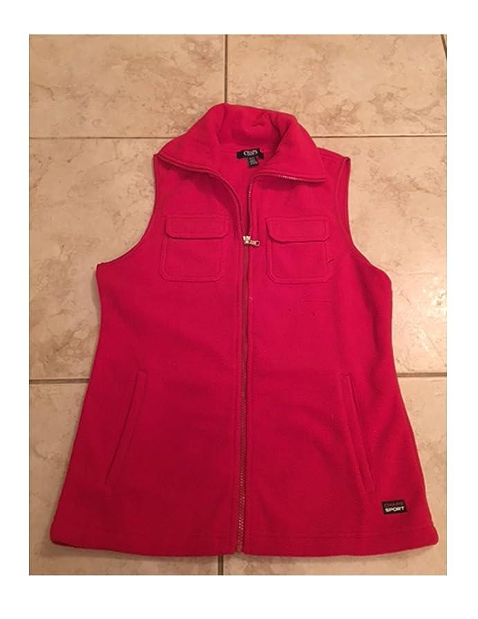 Chaps Women's Red Solid Polar Fleece Vest S/P M L XL (M) at Amazon ...