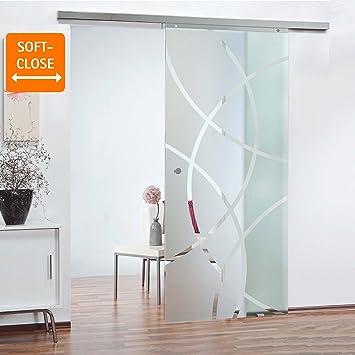 inova Glas-Schiebetür 755 x 2035 mm Kreis Design Alu Komplettset mit ...