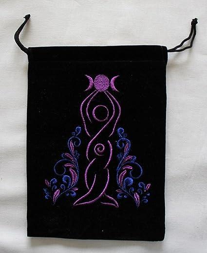 Magical Times 808 Goddess Unlined Black Velvet Tarot Bag