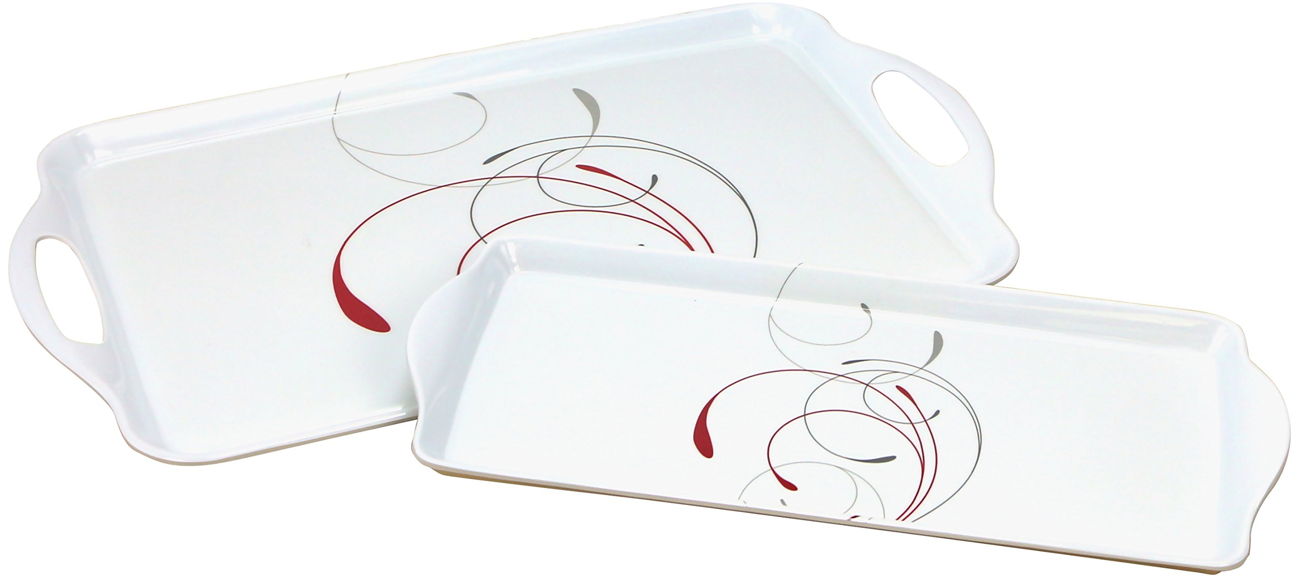 Corelle Coordinates Rectangular and Tidbit Serving Tray Set, White, Splendor