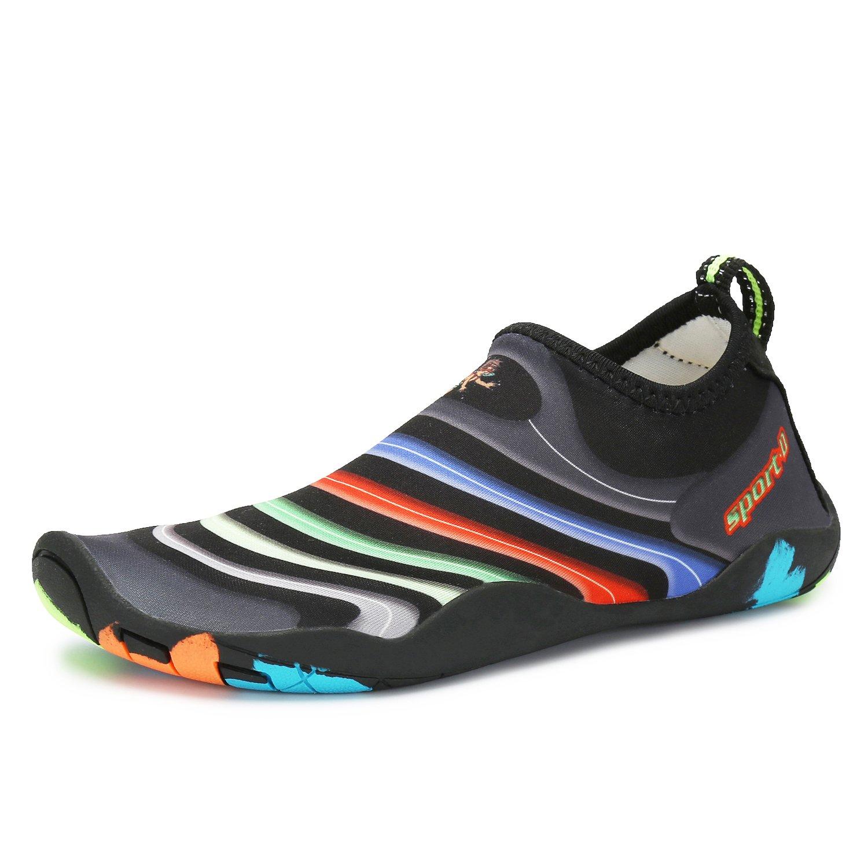 1cd5d5e7def9 katliu Kids Swim Water Shoes Boys Aqua Socks Colorful Beach Walking Barefoot  for Girls Surfing Yoga  Amazon.ca  Shoes   Handbags