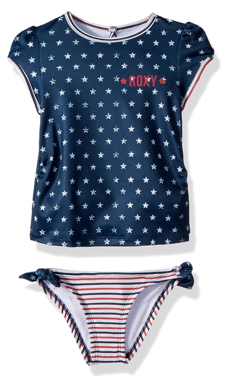 Roxy Girls Little Gipsy Short Sleeve Rashguard Swimsuit Set
