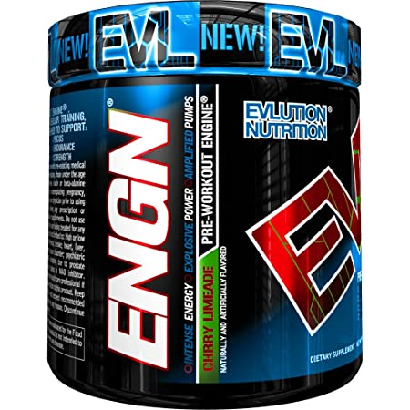 Evlution Nutrition ENGN Pre-Workout, 30 Servings, Intense Pre-Workout Powder for Increased Energy, Power, and Focus Cherry Limeade Pikatropin-Free
