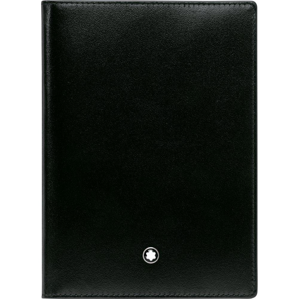 Montblanc International Passport Holder in Glossy Black Leather