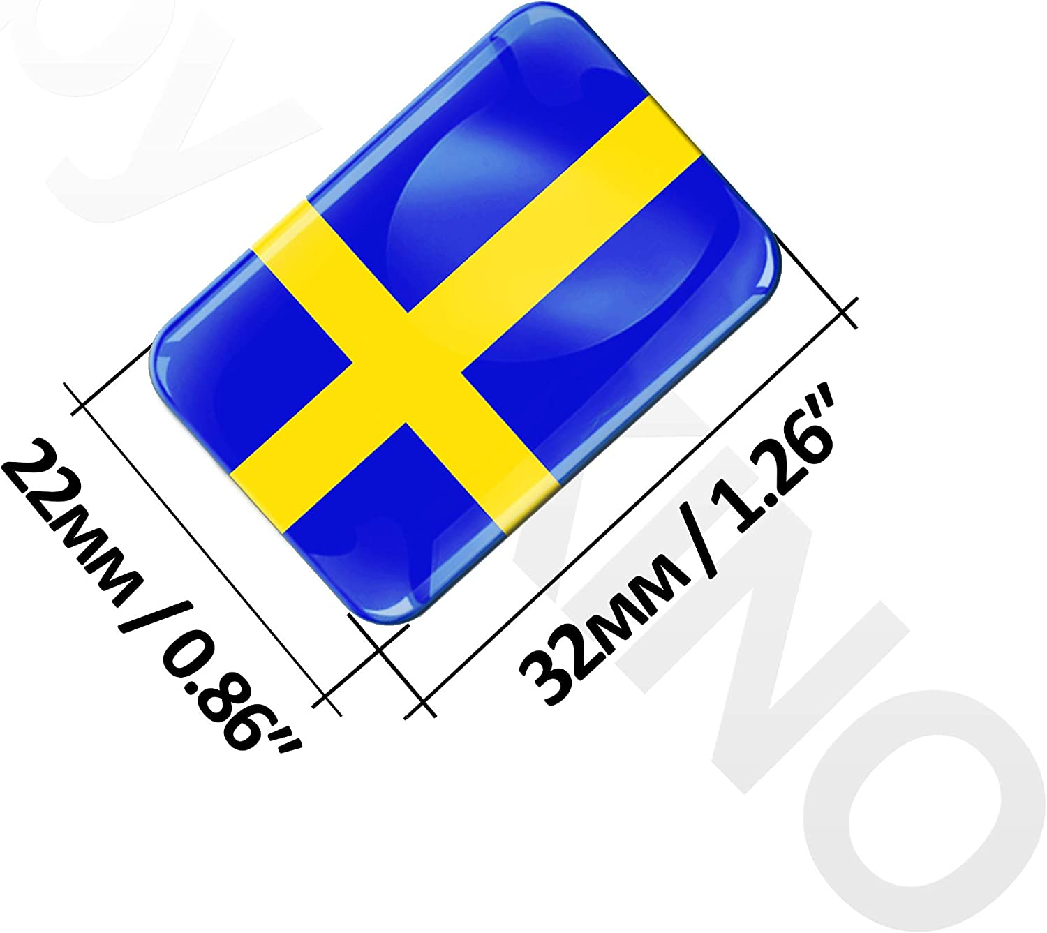 Biomar Labs 2 X Sticker 3d Gel Silicone Stickers Sweden Sweden Swedish Flag Flag Car Motorcycle Bicycle Window Door Pc Mobile Phone Tablet Laptop F 47 Auto