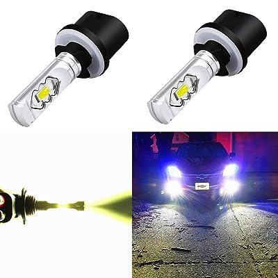 Alla Lighting 3800lm 899 880 LED Fog Light Bulbs Xtreme Super Bright 892 880 LED Bulb ETI 56-SMD LED 880 Bulb for Auto Motorcycle Cars Trucks SUV Fog DRL Lights, 6000K Xenon White (Set of 2): Automotive