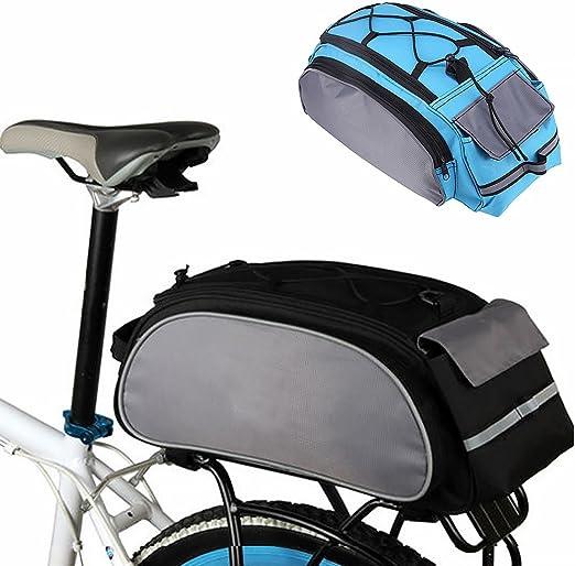 Alforja trasera para bicicleta, gran capacidad, multifunción ...