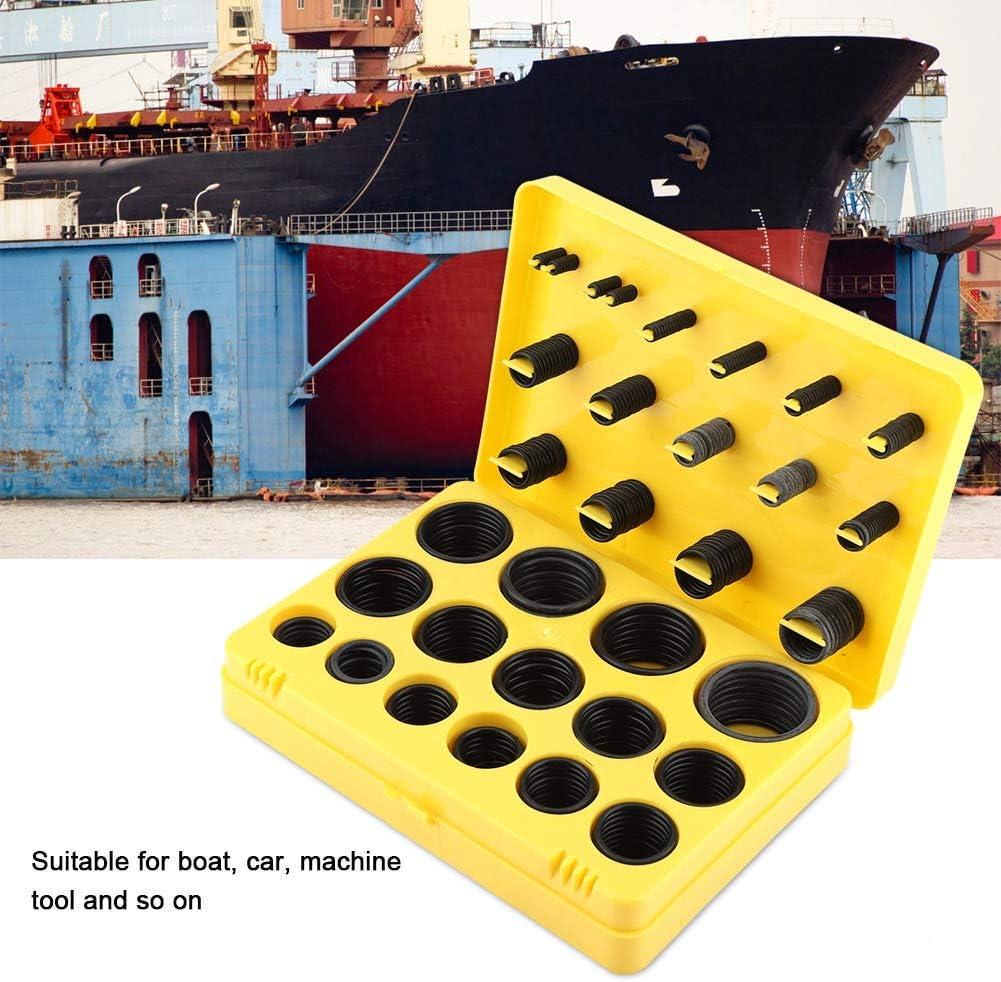 TOPINCN Dichtungs-O-Ring-Kit Abriebfeste Gummiringe f/ür Boot Auto Auto Fahrzeug-Reparatur-Maschine Pipeline Seal Sortiment Set mit Aufbewahrungskoffer Gelb