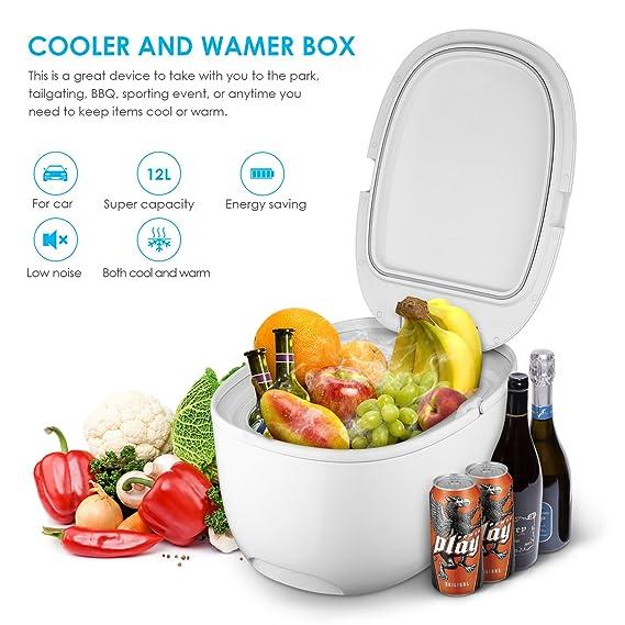Intey Mini Réfrigérateur Double UsageFrigo De Voiture À DE29WHIY