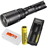 Premium High Power Bundle: Nitecore SRT7GT 1000 Lumen Smart Ring Tactical Flashlight - 3500mAH 18650 Battery, UM10 USB charger and LumenTac Battery Organizer