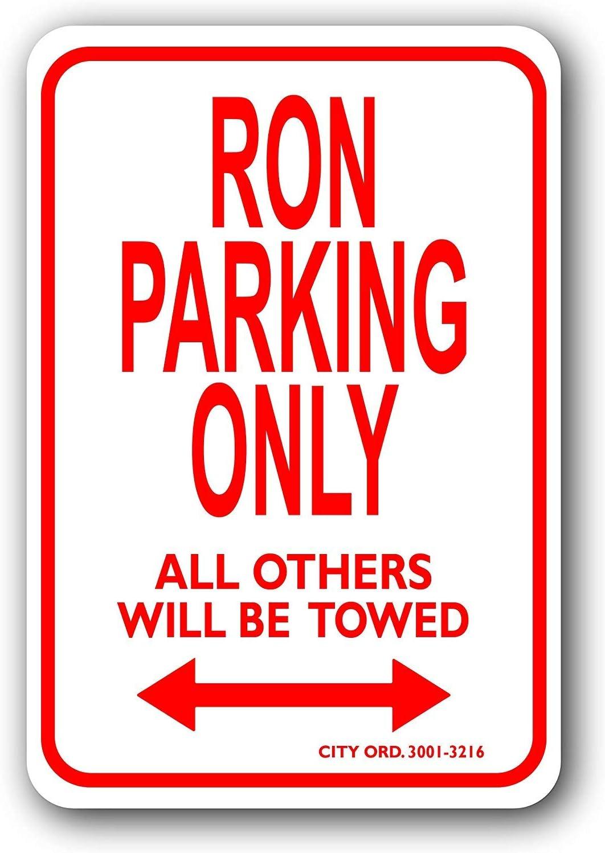 Fhdang Decor Ron - Señal de estacionamiento de Metal ...