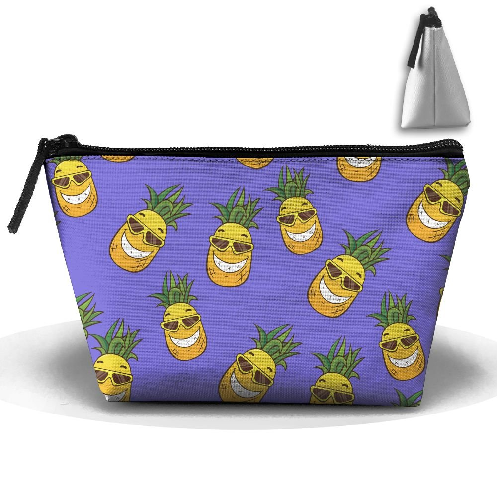 d4bcdaff6da8 Humor Pineapple Cartoon Unisex Compact Zipper Pouch Bag Trapezoid ...