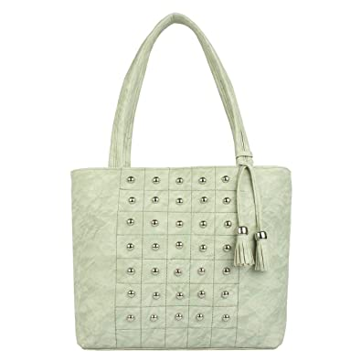 Image Unavailable. Image not available for. Colour  TARSHI Women s PU Green Shoulder  Bag 3501744dd40a9