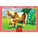 Spiegelburg 13869 Kleines Rahmenpuzzle Die süßen Ponys (8 Teile)