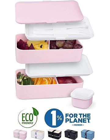 Sistema à bento pour aller rose Healthy Lunchbox Travail École Voyage Sur Le Go