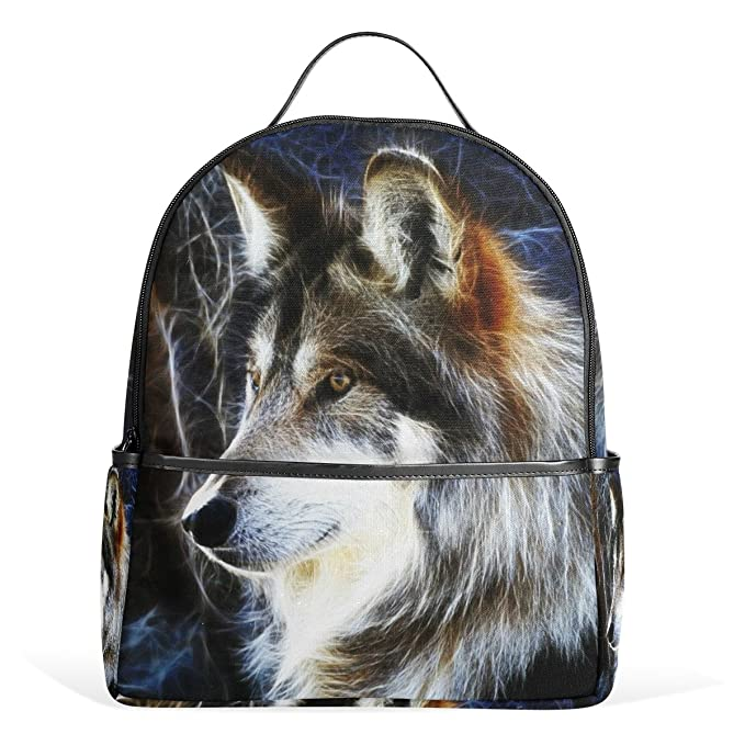a19edf4222 JSTEL Wolf School Backpack 4th 5th 6th Grade for Boys Teen Girls Kids   Amazon.ca  Clothing   Accessories