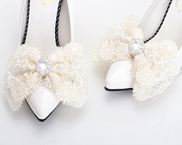 1f3cca36ff547d Amazon.com  Champagne lace shoe clips