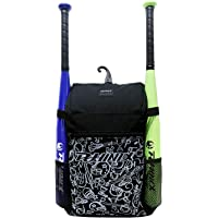 PHINIX Baseball, T-Ball or Softball Backpack Holds Bat Glove with Fence Hook for Kids