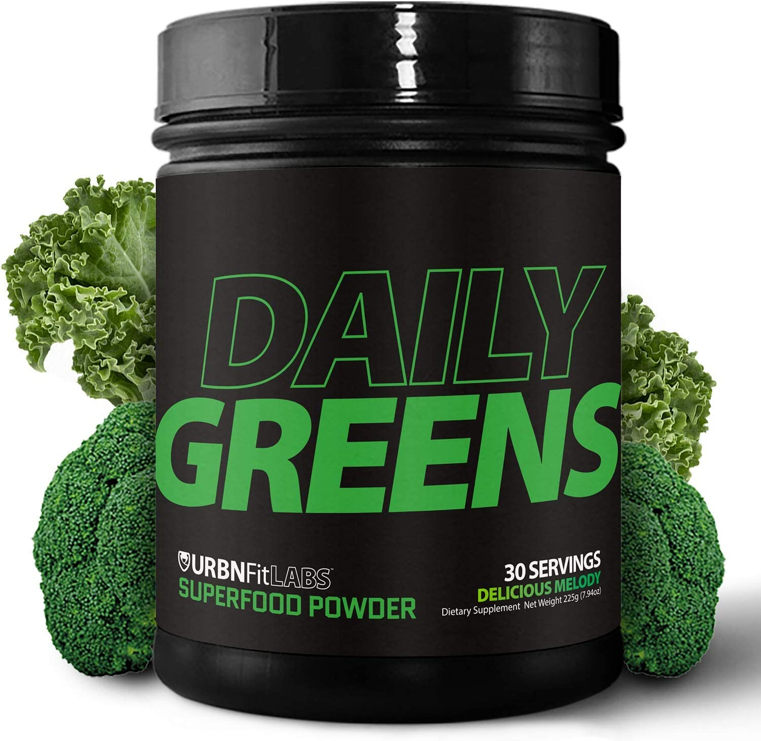 Daily Greens Organic Superfood Powder Supplement 15 Organic Plant-Based Fruits and Vegetables in One Scoop All Critical Vitamins, Minerals and Antioxidants for Peak Energy and Performance