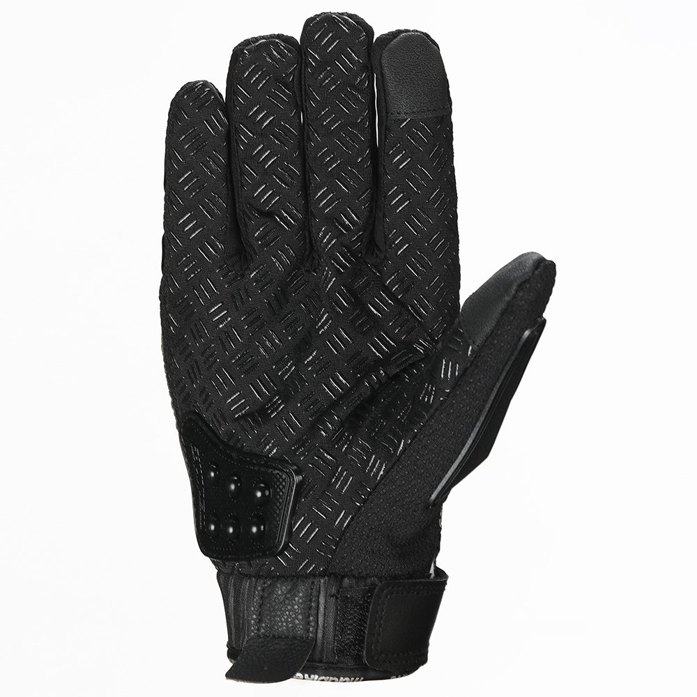 ILM Steel Knuckle Motorcycle ATV Motocross Dirt Bike Racing BMX MX Downhill Tactical Gloves (M, BLACK) by ILM (Image #2)