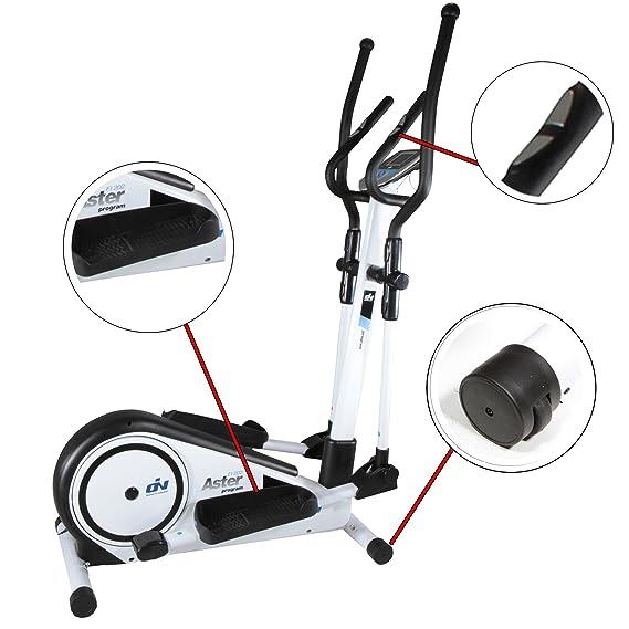 Elíptica Aster Program FI202 by ION fitness. 19 programas predeterminados. Blanca. Zancada 33cm. Volante inercia 6Kg.: Amazon.es: Deportes y aire libre