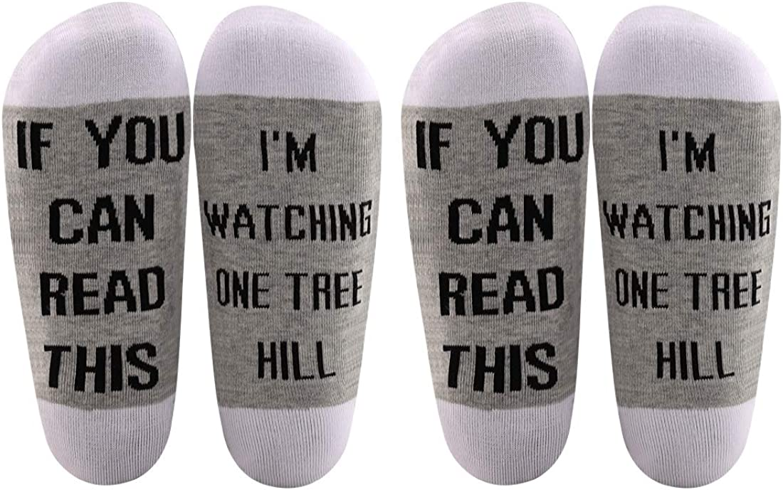 LEVLO One Tree Hill Inspired Gift If You Can Read This I'm Watching One Tree Hill Cotton Socks One Tree Hill Fans Gift