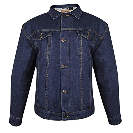 378cc11f689a Image Unavailable. Image not available for. Color  Lada Traditional Mens  Western Dark Blue Denim Jacket ...