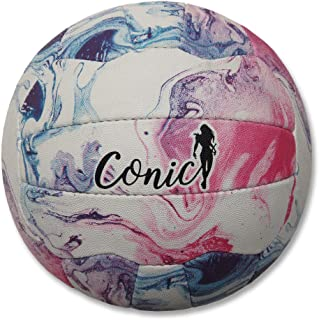 Conic CONICSPORT Netball Spirit Taille 5 [Blanc/marbre]