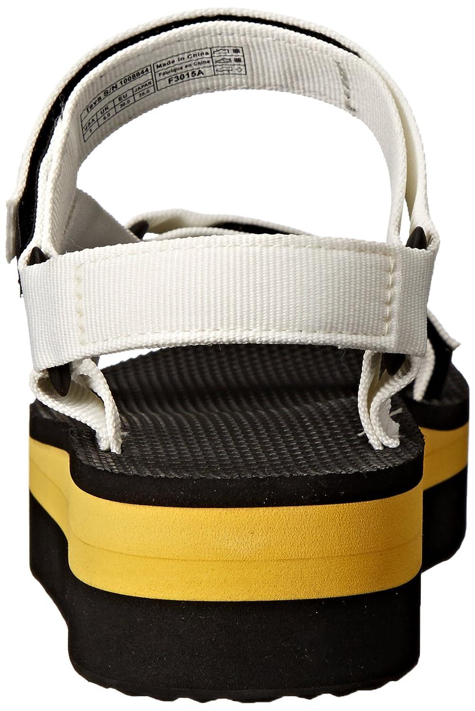 Teva Women's Flatform Universal B(M) Sandal B00KXD9KRS 9 B(M) Universal US|White/Yellow ac9bd9